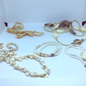 Seashell necklace bundle